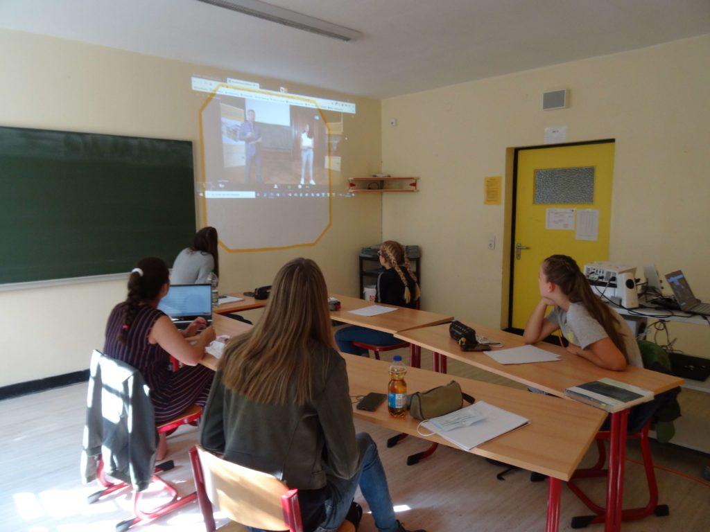 Das Schulteam des Gymnasiums Calvarienberg beim Mathematikturnier