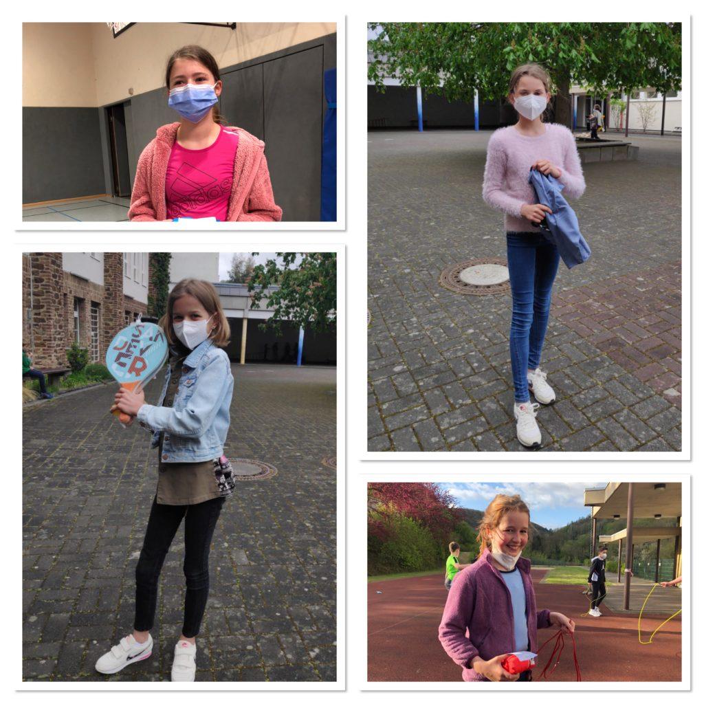 Anna Raths (6a), Lotta Ockenfels (6b), Gerda Briel (5a) und Charlotte Wejda (5c)